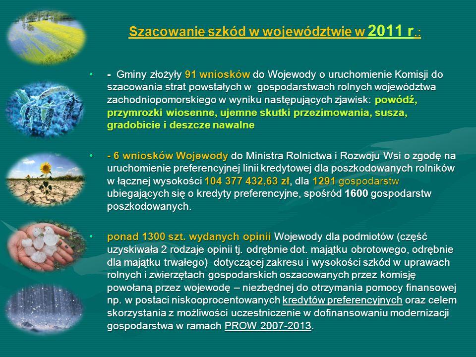 Szacowanie szkód w województwie w 2011 r.: