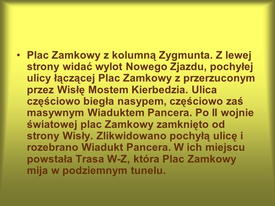 Plac Zamkowy z kolumną Zygmunta