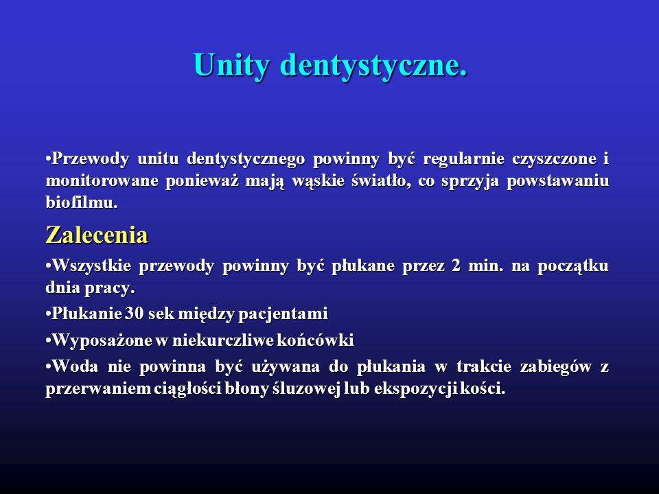 Unity dentystyczne. Zalecenia
