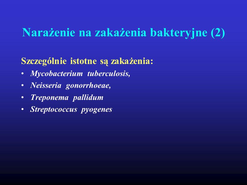 Narażenie na zakażenia bakteryjne (2)
