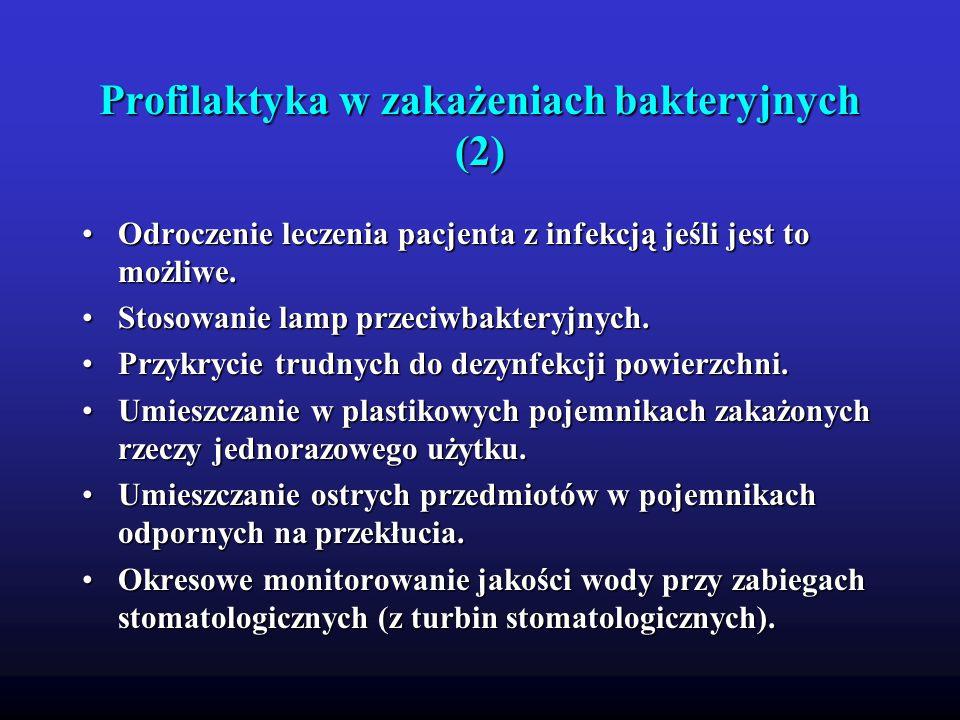 Profilaktyka w zakażeniach bakteryjnych (2)