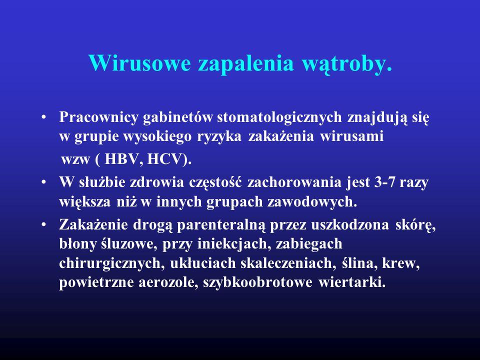 Wirusowe zapalenia wątroby.