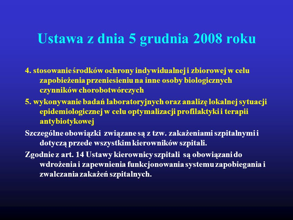 Ustawa z dnia 5 grudnia 2008 roku