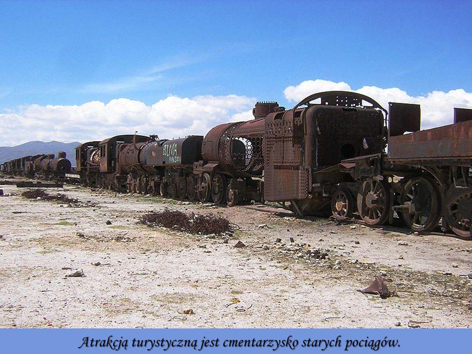 Atrakcją turystyczną jest cmentarzysko starych pociągów.