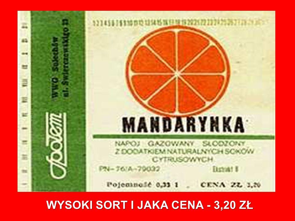 WYSOKI SORT I JAKA CENA - 3,20 ZŁ