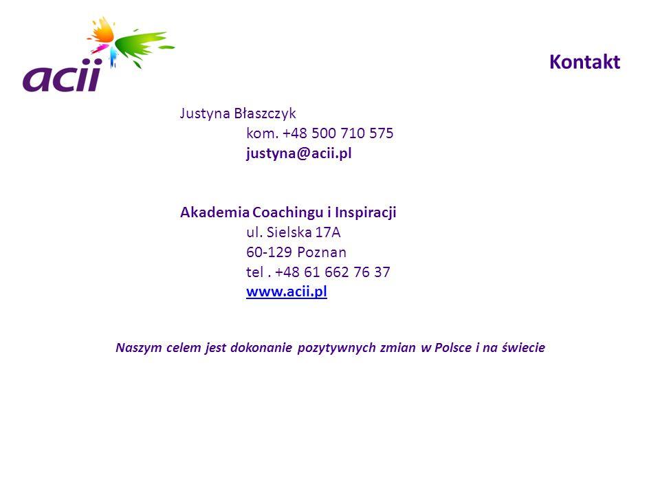 Naszym celem jest dokonanie pozytywnych zmian w Polsce i na świecie