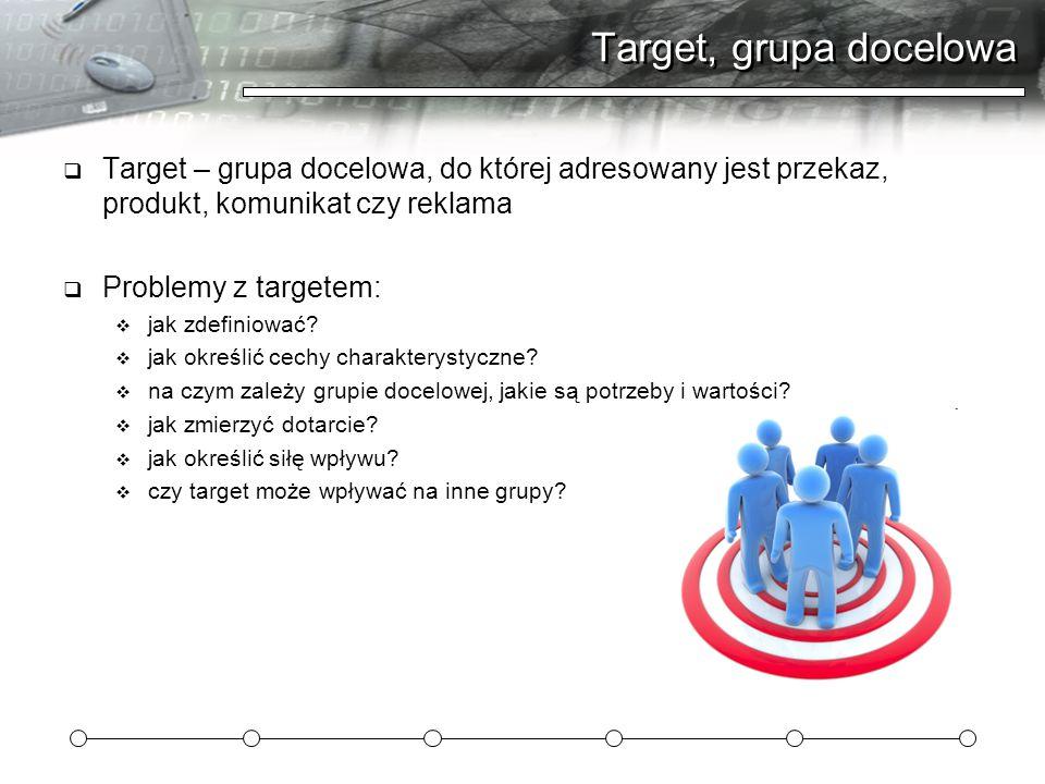 Target, grupa docelowa Target – grupa docelowa, do której adresowany jest przekaz, produkt, komunikat czy reklama.
