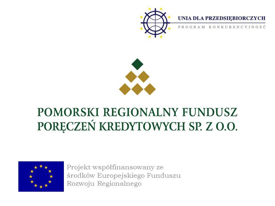 Projekt współfinansowany ze środków Europejskiego Funduszu Rozwoju Regionalnego
