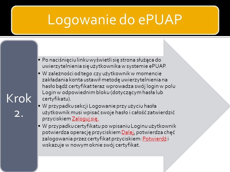 Logowanie do ePUAP Krok 2.