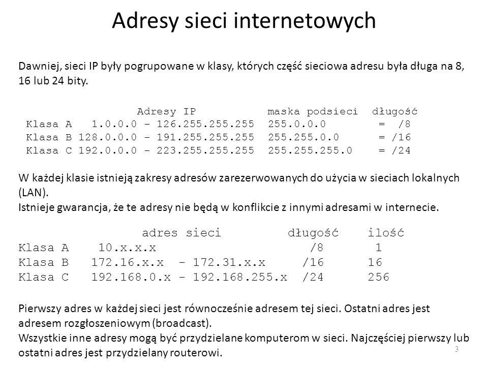 Adresy sieci internetowych
