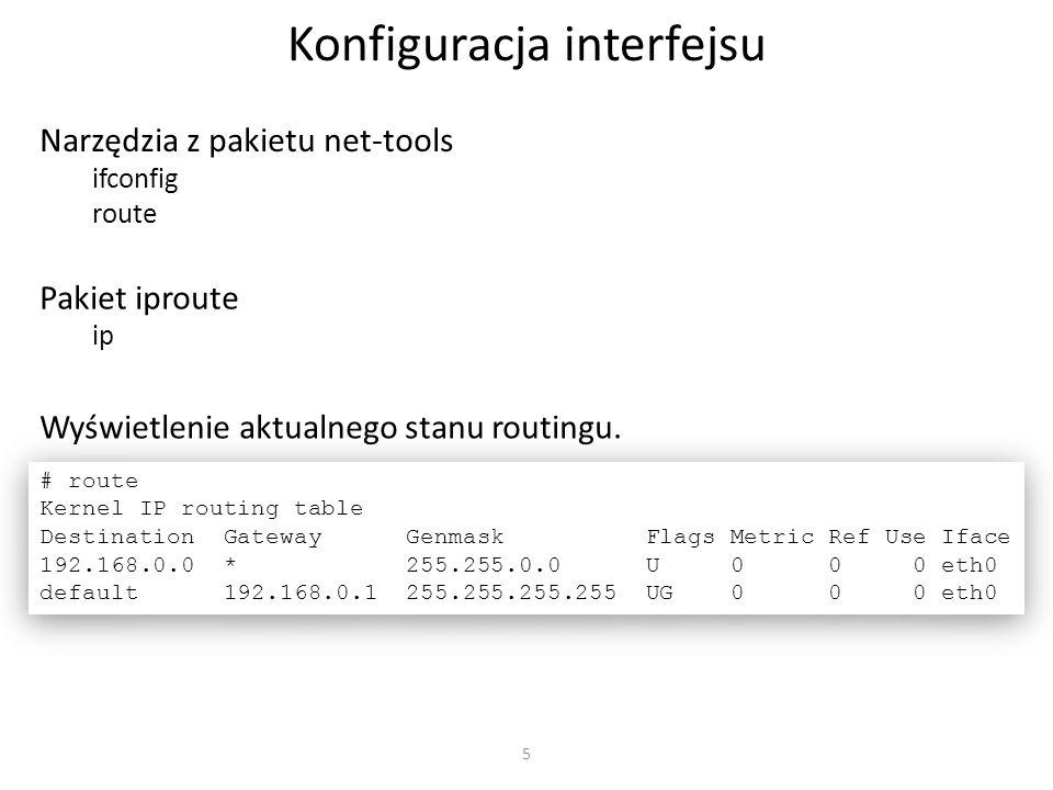 Konfiguracja interfejsu