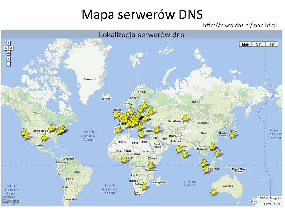 Mapa serwerów DNS http://www.dns.pl/map.html