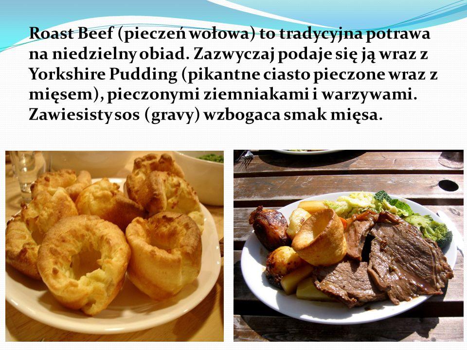 Roast Beef (pieczeń wołowa) to tradycyjna potrawa na niedzielny obiad