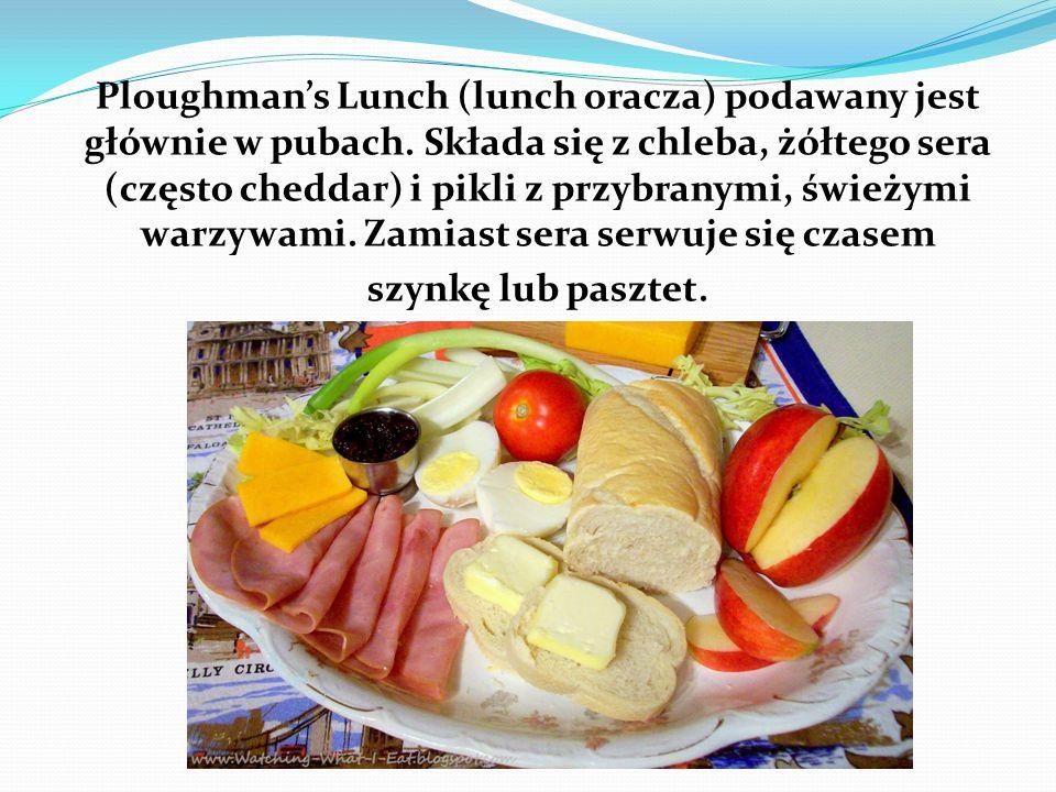 Ploughman's Lunch (lunch oracza) podawany jest głównie w pubach