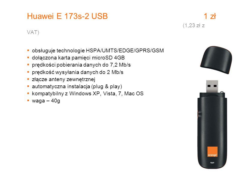 Huawei E 173s-2 USB 1 zł (1,23 zł z VAT)