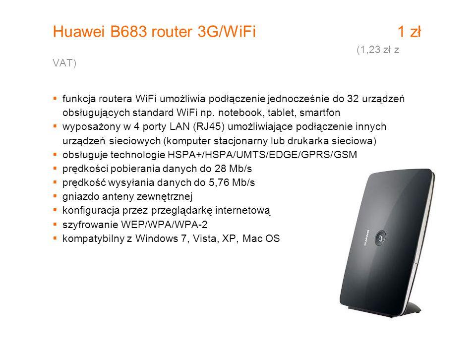 Huawei B683 router 3G/WiFi 1 zł (1,23 zł z VAT)