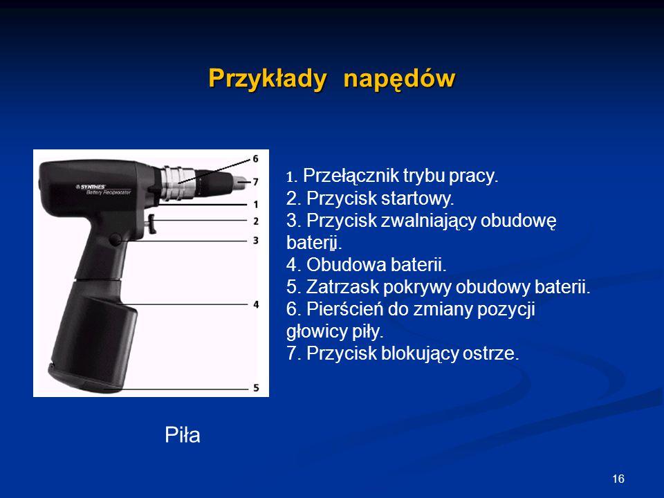 Przykłady napędów Piła 2. Przycisk startowy.
