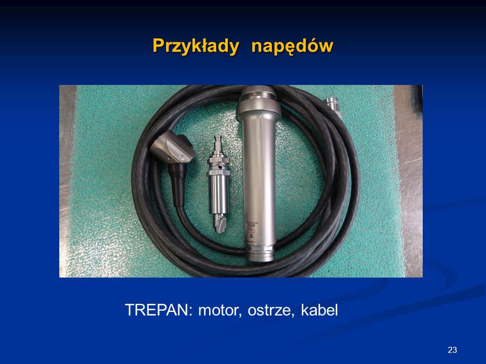 TREPAN: motor, ostrze, kabel