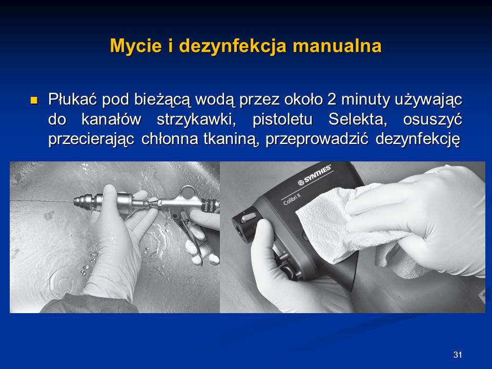 Mycie i dezynfekcja manualna