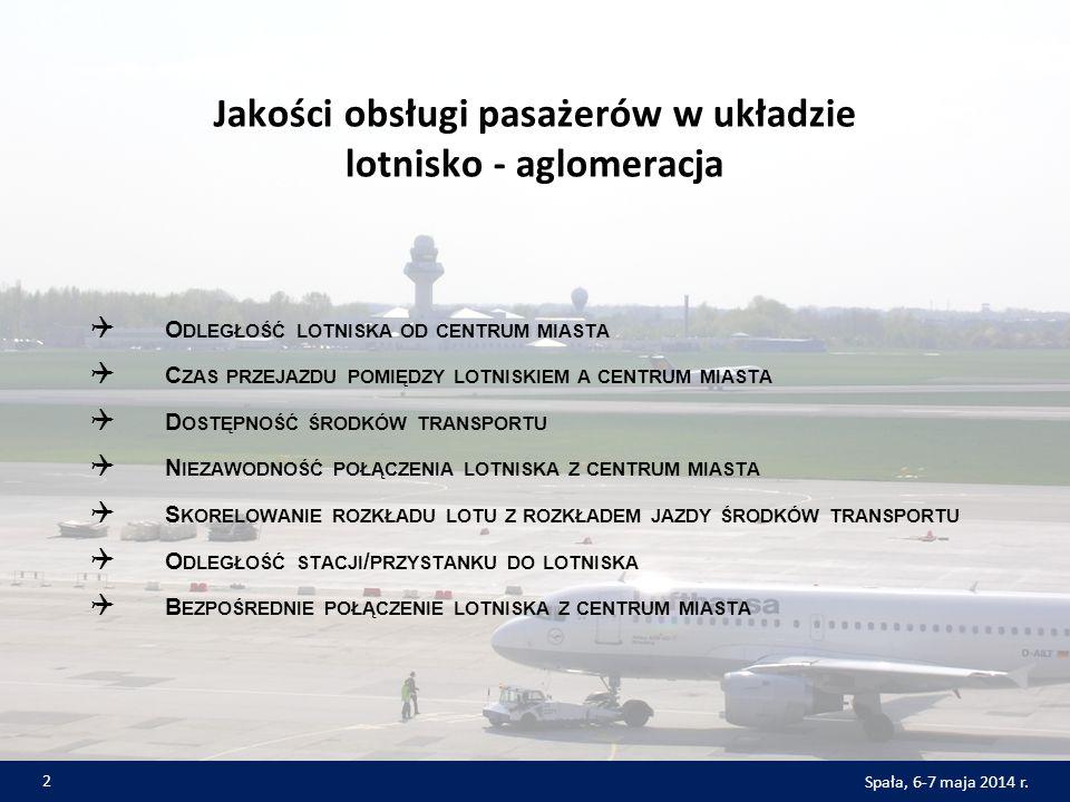 Jakości obsługi pasażerów w układzie lotnisko - aglomeracja