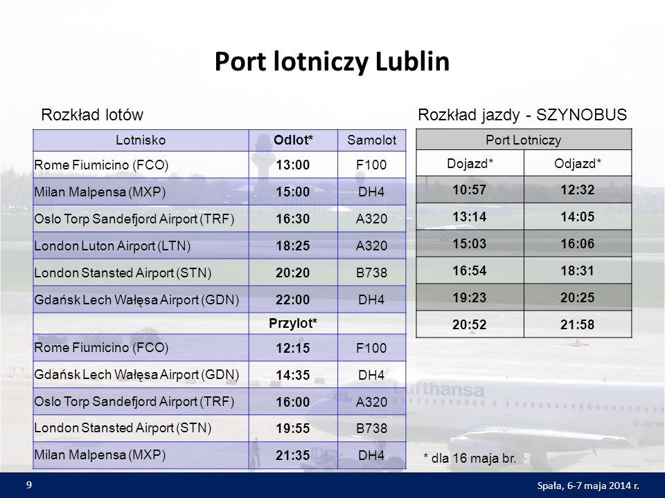 Port lotniczy Lublin Rozkład lotów Rozkład jazdy - SZYNOBUS Lotnisko