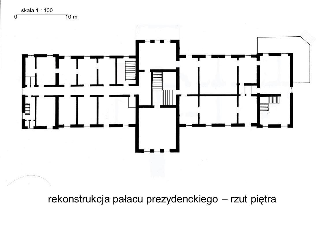 rekonstrukcja pałacu prezydenckiego – rzut piętra