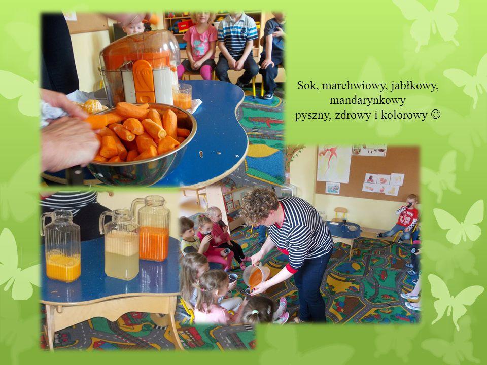 Sok, marchwiowy, jabłkowy, mandarynkowy pyszny, zdrowy i kolorowy 