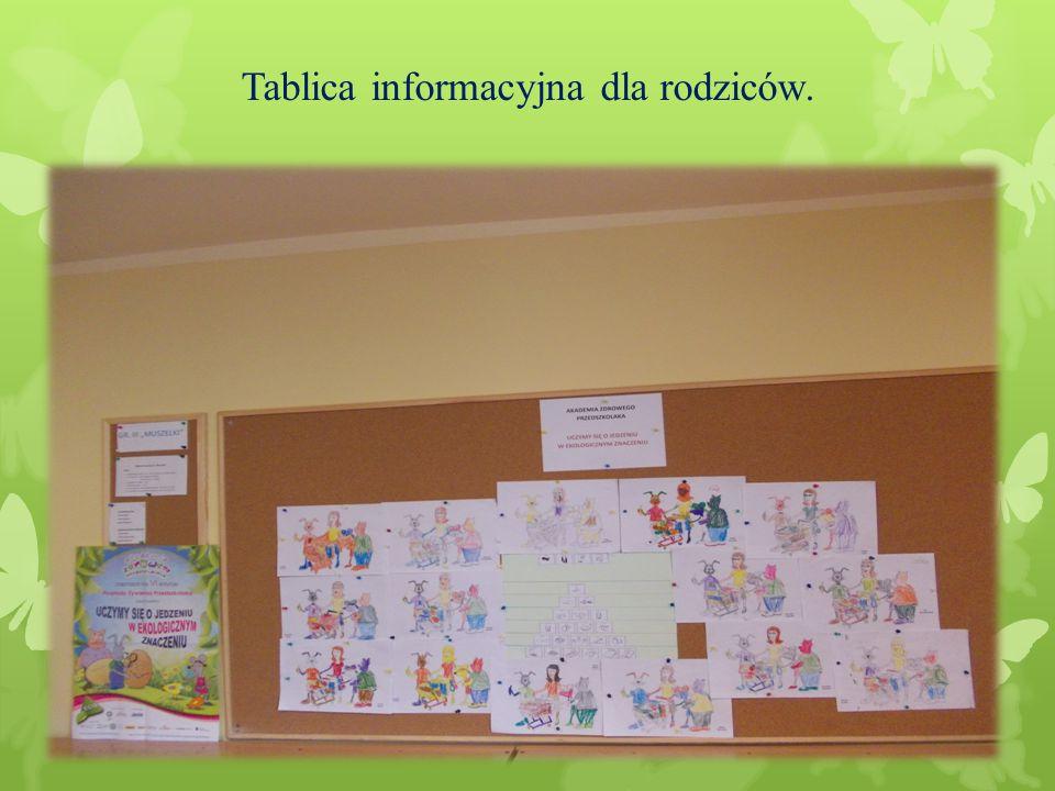 Tablica informacyjna dla rodziców.