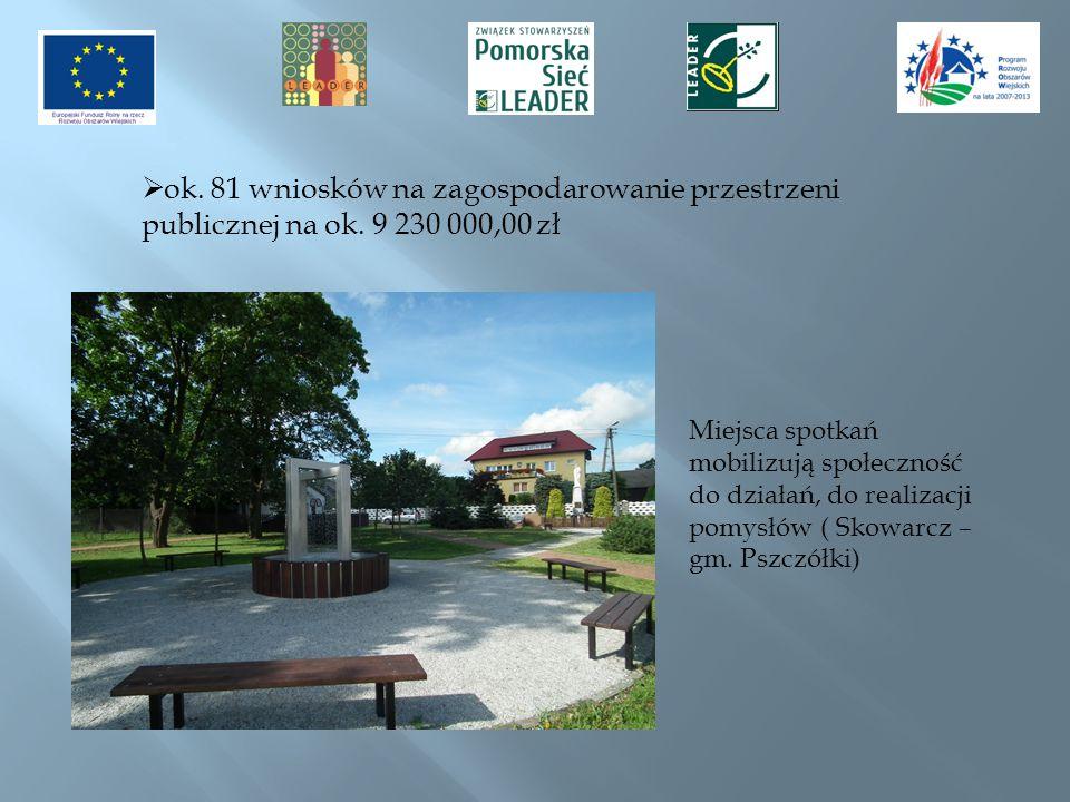 ok. 81 wniosków na zagospodarowanie przestrzeni publicznej na ok