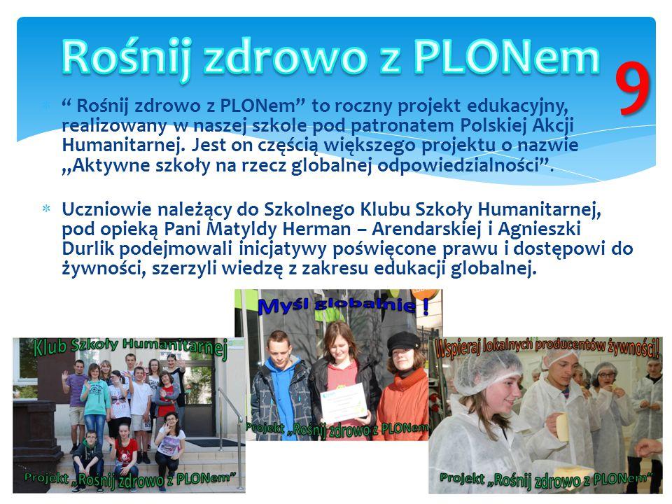 Rośnij zdrowo z PLONem 9.