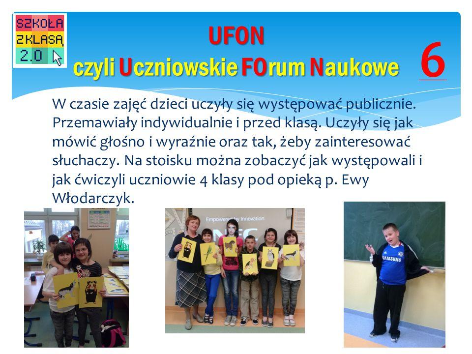 UFON czyli Uczniowskie FOrum Naukowe