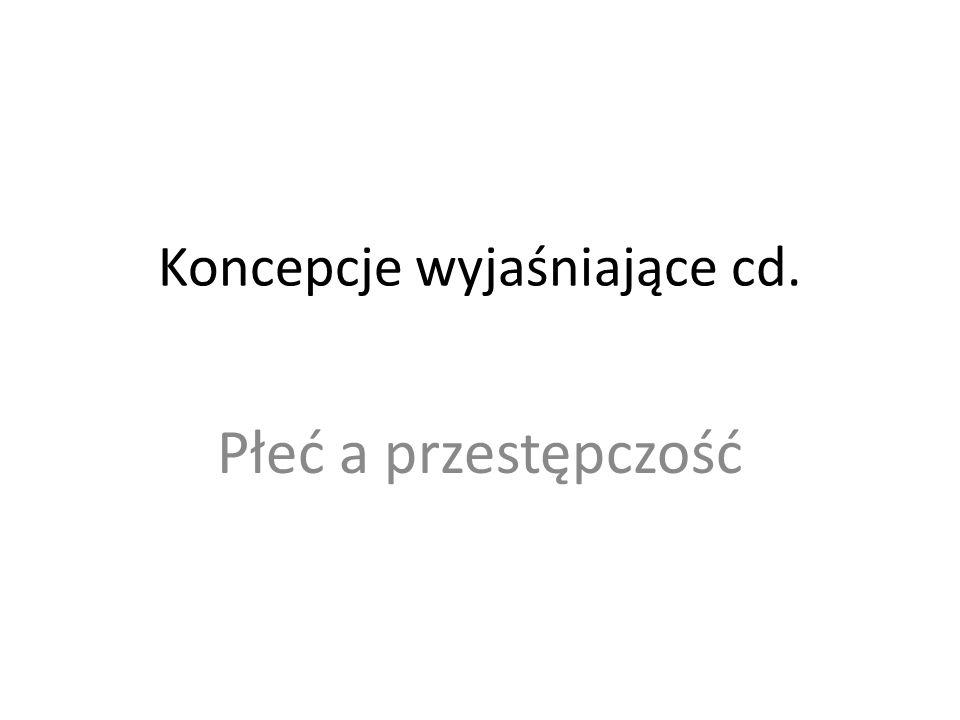 Koncepcje wyjaśniające cd.
