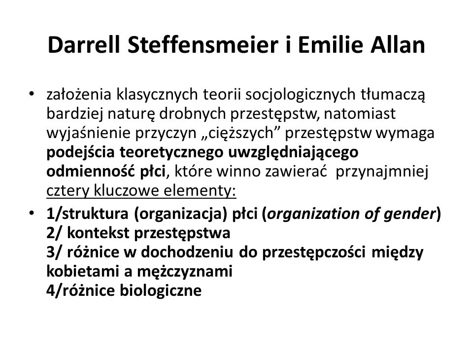 Darrell Steffensmeier i Emilie Allan