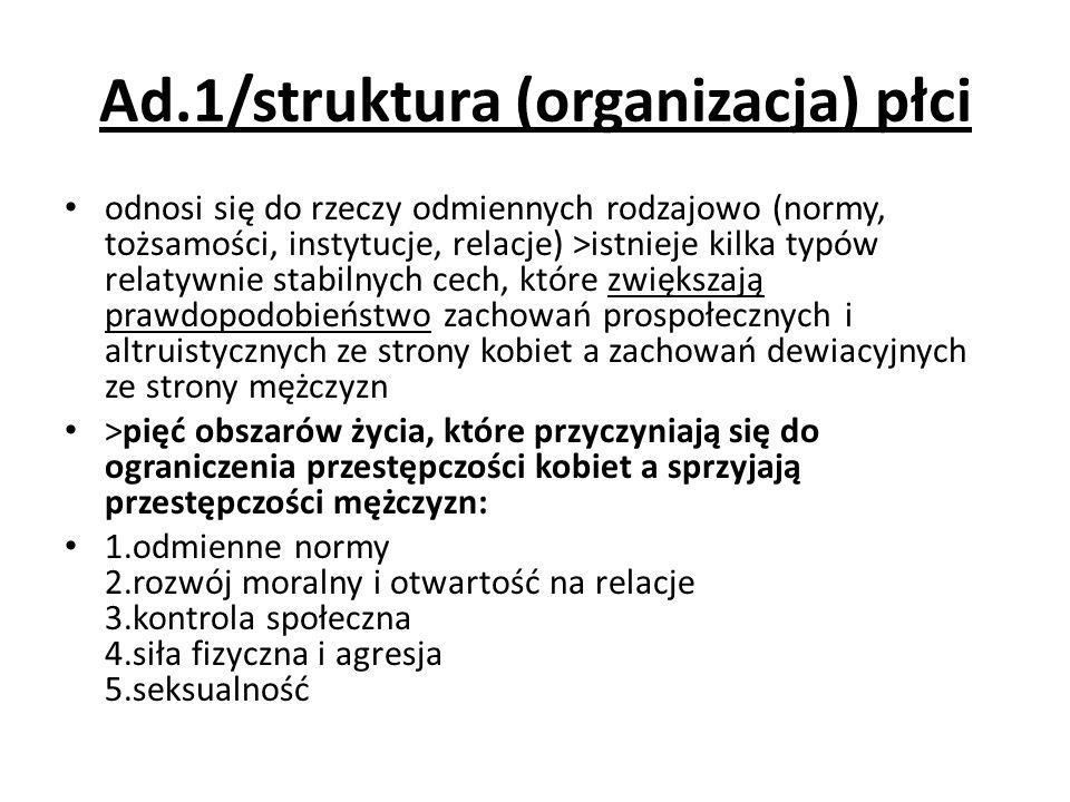 Ad.1/struktura (organizacja) płci