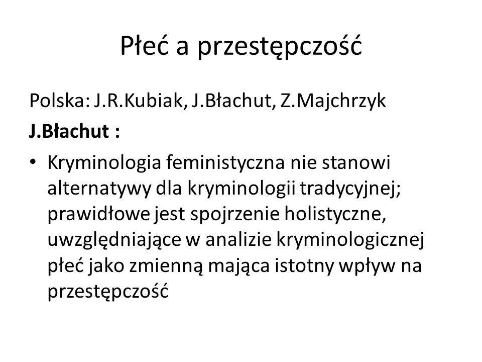 Płeć a przestępczość Polska: J.R.Kubiak, J.Błachut, Z.Majchrzyk