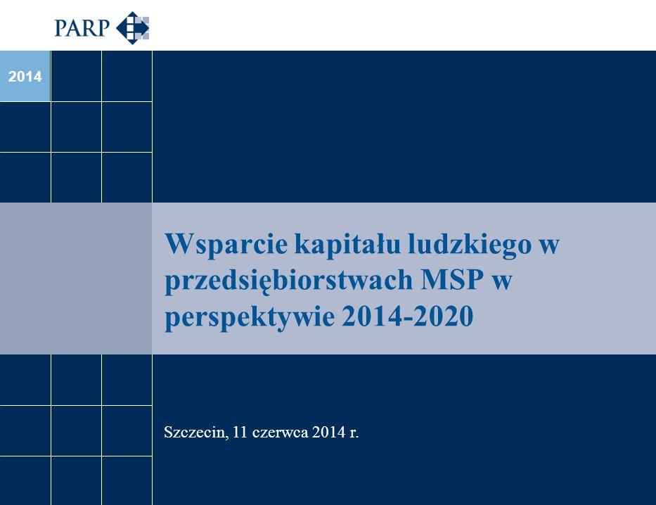 Wsparcie kapitału ludzkiego w przedsiębiorstwach MSP w perspektywie 2014-2020