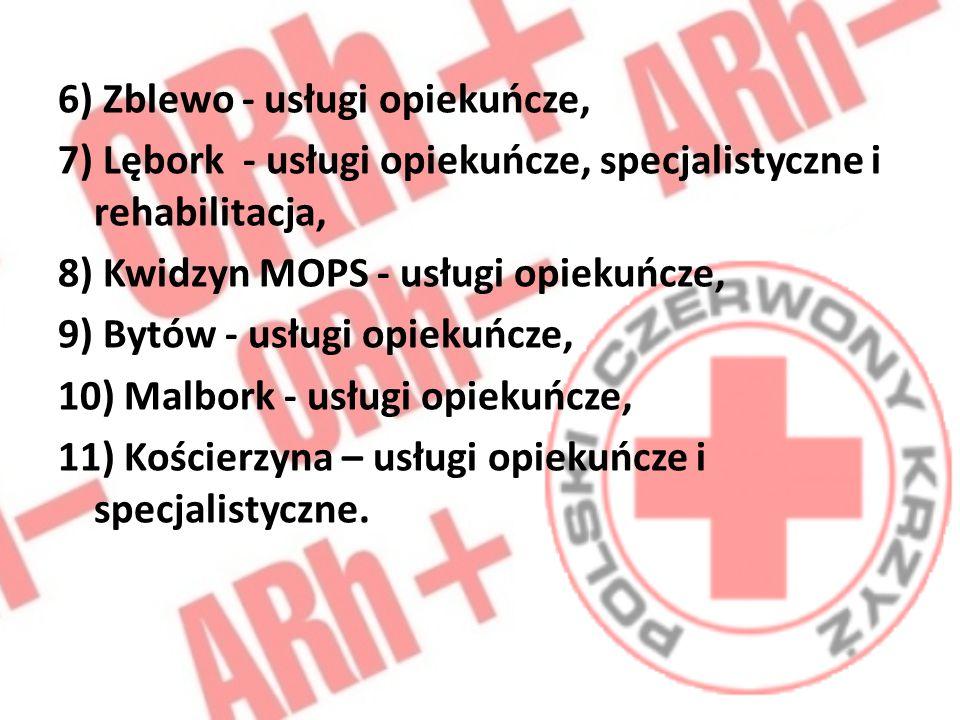 6) Zblewo - usługi opiekuńcze,