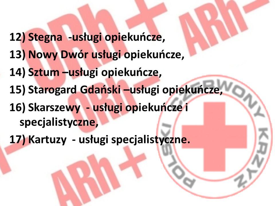 12) Stegna -usługi opiekuńcze,