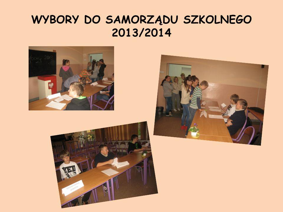 WYBORY DO SAMORZĄDU SZKOLNEGO 2013/2014