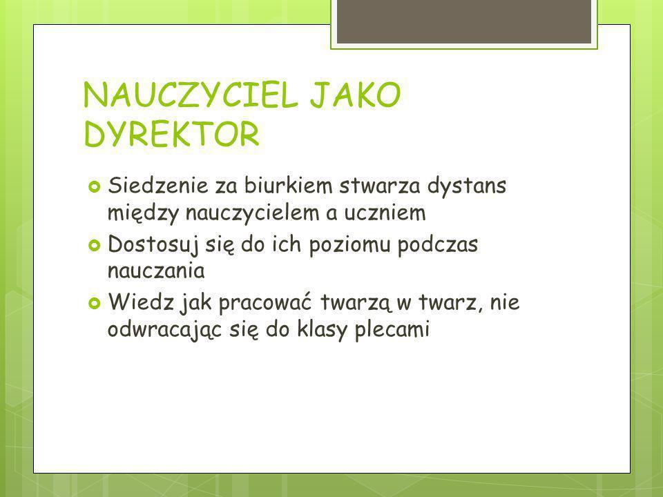 NAUCZYCIEL JAKO DYREKTOR