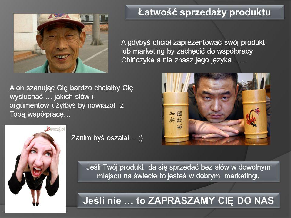 Łatwość sprzedaży produktu Jeśli nie … to ZAPRASZAMY CIĘ DO NAS