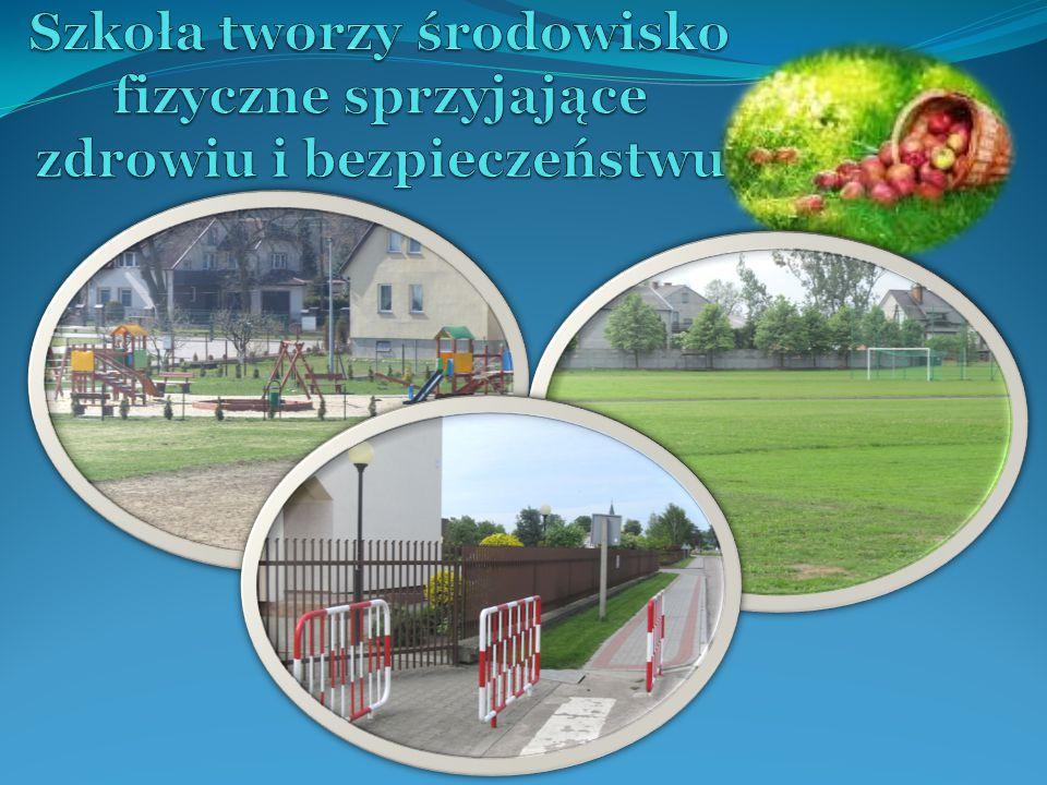 Szkoła tworzy środowisko fizyczne sprzyjające zdrowiu i bezpieczeństwu