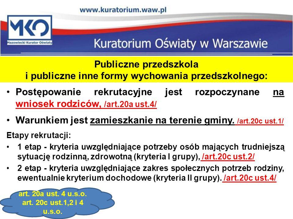 Warunkiem jest zamieszkanie na terenie gminy. /art.20c ust.1/