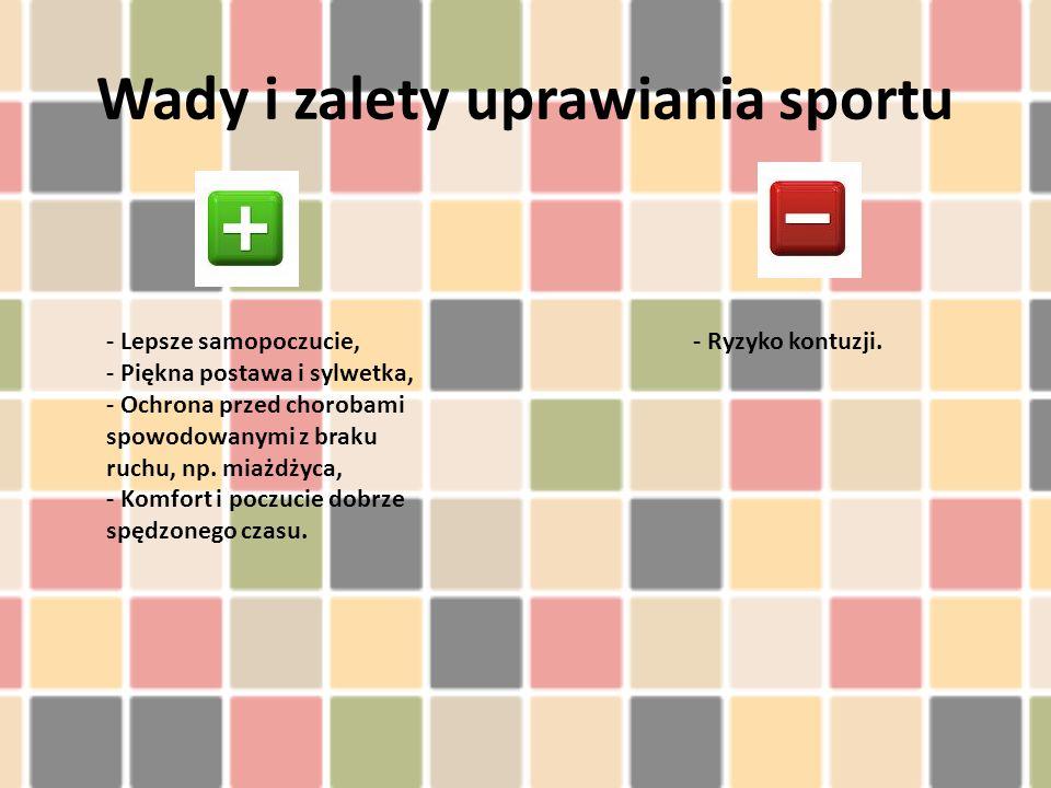 Wady i zalety uprawiania sportu