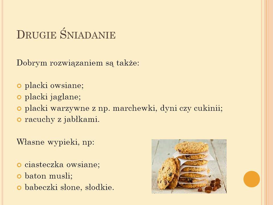 Drugie Śniadanie Dobrym rozwiązaniem są także: placki owsiane;
