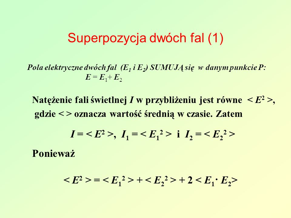 Superpozycja dwóch fal (1)