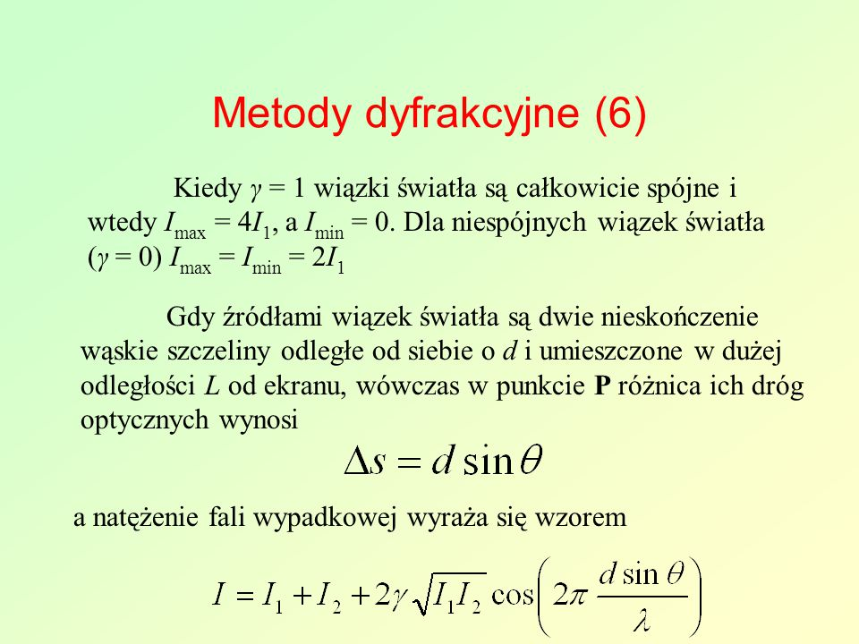 Metody dyfrakcyjne (6)
