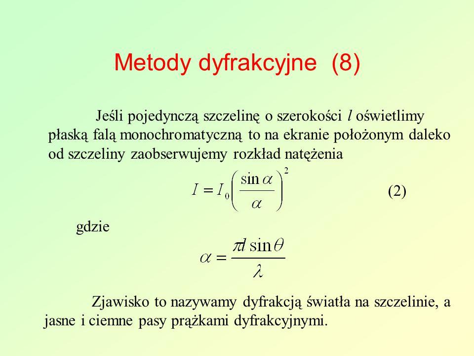 Metody dyfrakcyjne (8)