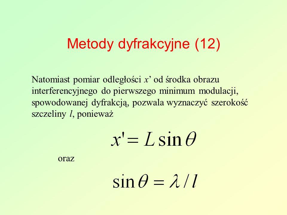 Metody dyfrakcyjne (12)