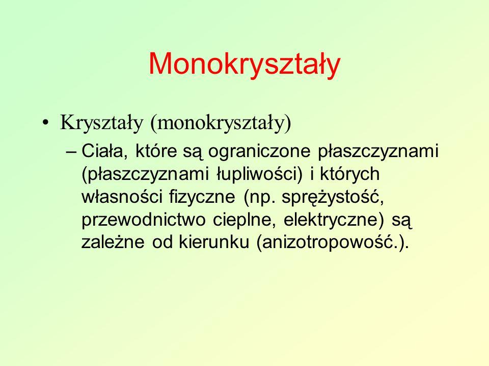 Monokryształy Kryształy (monokryształy)